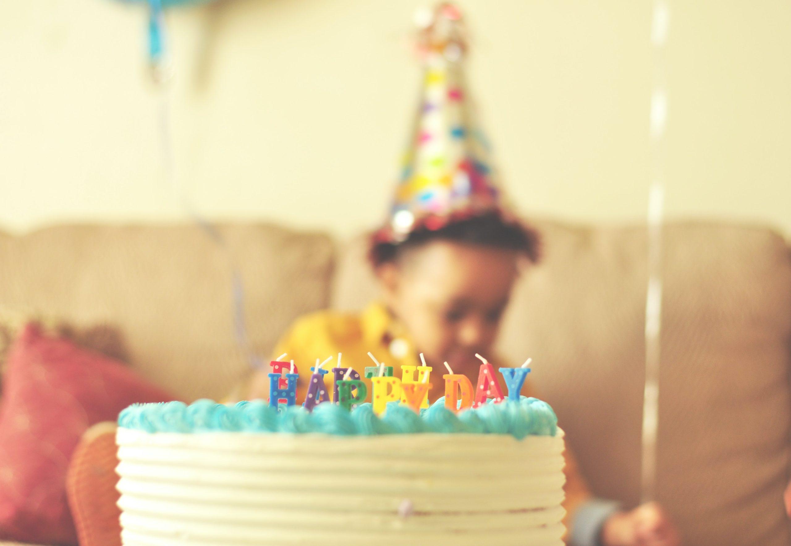 en födelsedagstårta