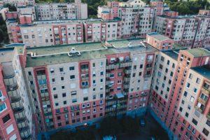 Bostadsrättsföreningar Yepstr, bilden visar flera lägenhetshus
