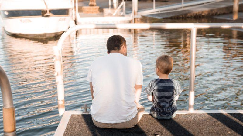 En pappa som sätter gränser för sin son