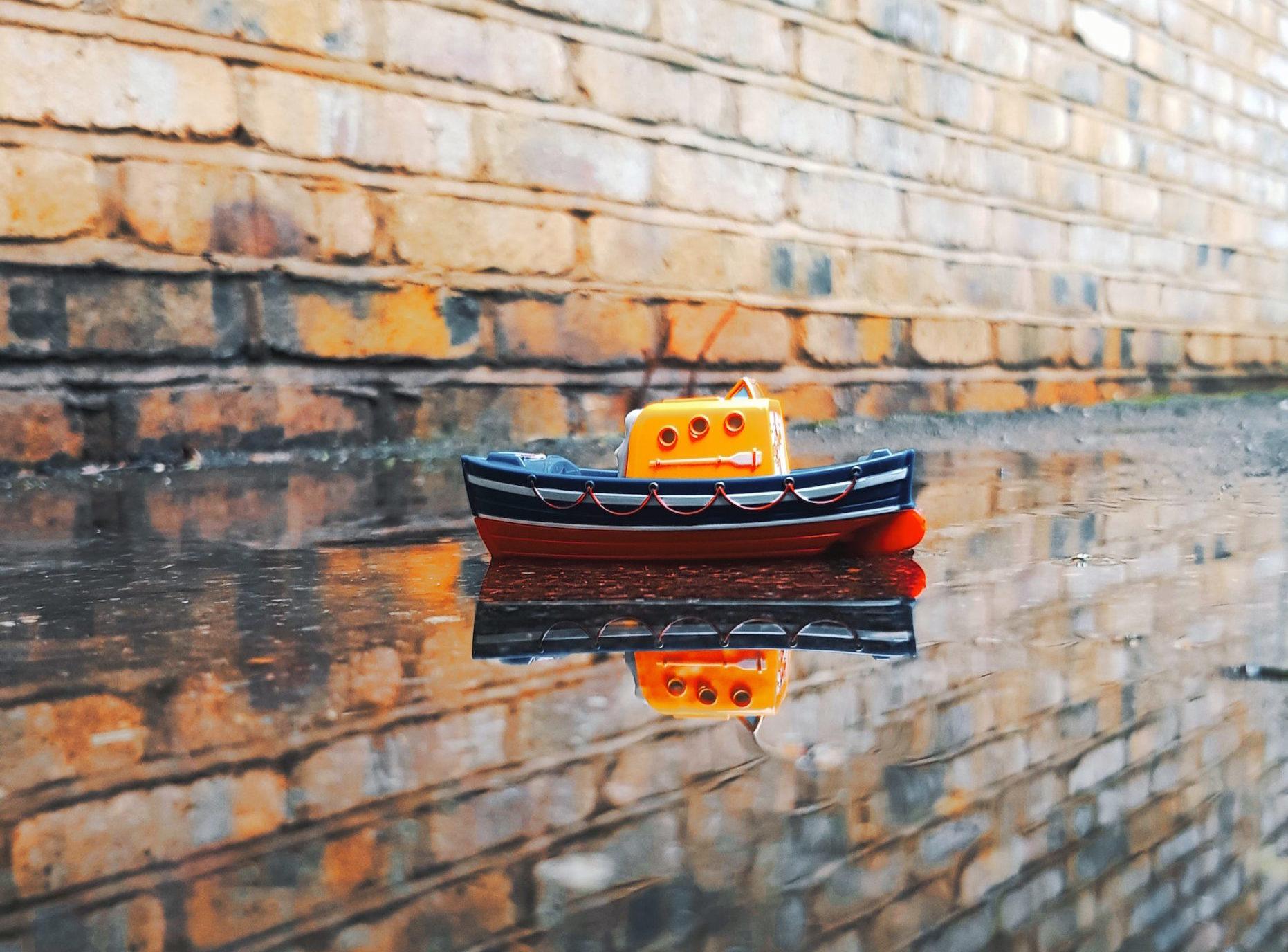 En liten båt