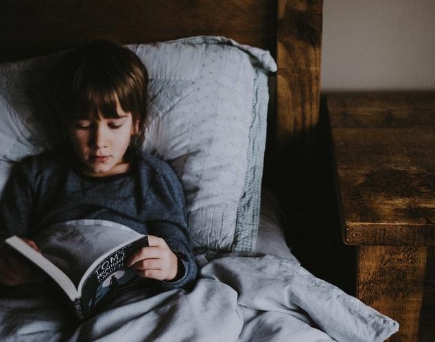 Barn i säng - Vattkoppor hos barn